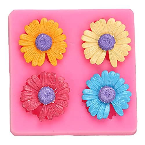 XIAOM Kuchenform Schöne Silikonformen Schokoladenformen Fondantformen für Backküche Backenutensilien Kuchen Werkzeuge Blume Gips Wachs-Chips