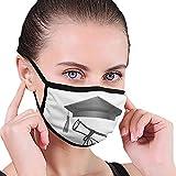 Enhorabuena Vintage Graduación Gorra y Diploma Máscara bucal Reutilizable Lavable Máscara Antipolvo