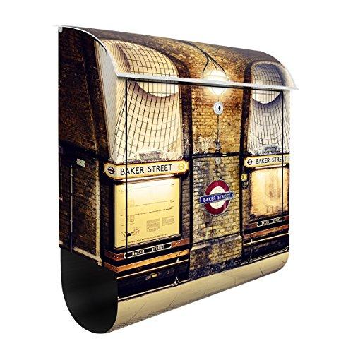 Briefkasten mit Zeitungsrolle London Baker Street 46cm x 39cm