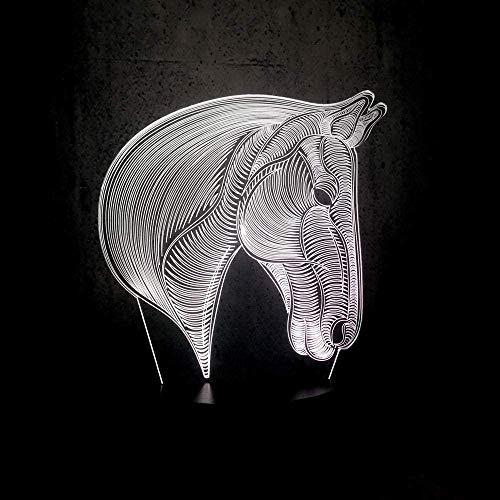 Luz de noche creativa 3D de 7 colores, luz de sueño para niños, luz de humor, montar animal, manis, decoración de animales, juguete de mesa colorido
