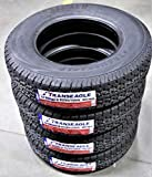 Prometer 15 INCH TIRES - Set of 4 (FOUR) Transeagle ST Radial II Steel Belted Premium Trailer Tires-ST205/75R15 107/102L LRD 8-Ply