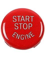 TOOGOO Reemplazo de La Cubierta del Interruptor de Encendido del Botón de Arranque del Motor de Parada para BMW X1 X3 X5 X6 Z4(E84,E83 Etc) 1 3 5 Series (E87,E90/E91/E92/E93,E60)(Negro)