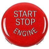 TOOGOO Reemplazo de La Cubierta del Interruptor de Encendido del Botón de Arranque del Motor de Parada para BMW X1 X3 X5 X6 Z4(E84,E83 Etc) 1 3 5 Series (E87,E90/E91/E92/E93,E60)(Rojo)