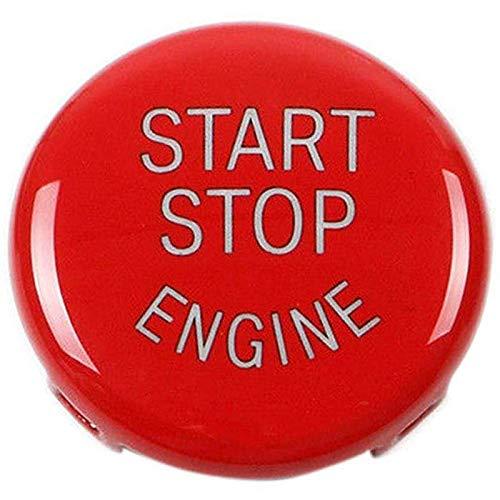 REFURBISHHOUSE Start Stop Engine-Taste Druckknopf Zündschalter Abdeckung Ersatz Für BMW X1 X3 X5 X6 Z4 (E84, E83, E70, E71, E89) 1 3 5 Serie (E87, E90 / E91 / E92 / E93, E61) (Rot)