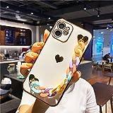 LIUYAWEI Cas de téléphone de chaîne de Poignet de Couleur Bonbon pour iPhone 12 Pro Max 11 12...