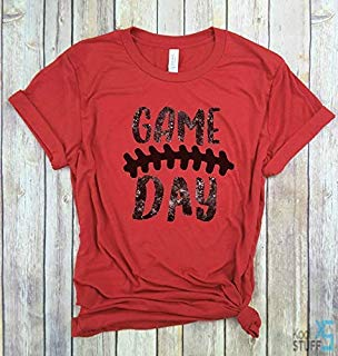 Game Day Shirt Distressed, Laces, Football Tshirt, Football Sunday Shirt, Football Season, Sunday Funday, sorority game day shirt