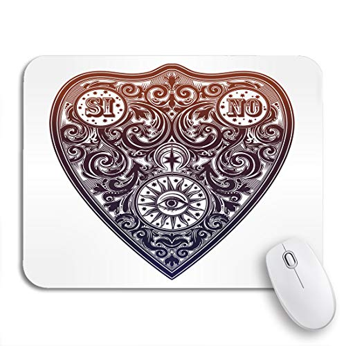 """Adowyee Gaming Mouse Pad Vintage Magic Ouija Board Oracle Antique Boho Chic Halloween 9.5""""x7.9"""" Nonslip Rubber Backing Computer Mousepad for Notebooks Mouse Mats"""