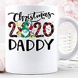 N\A Navidad 2020 Gnomos Usan mascarilla Disfraz Rojo Buffalo Plaid Daddy Christmas Holiday Mug