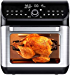 IKICH Air Fryer Oven, 12QT 1500W Electric Large Hot Air Fryer, 10+7 Presets & Cooking Modes, w/LED Touchscreen, Dehydrator & Rotisserie with Skewer Rack, Removal Tool, Cookbook (Renewed)