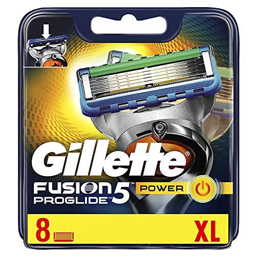 Gillette Fusion5 Proglide Power Rasierklingen, 8 Stück