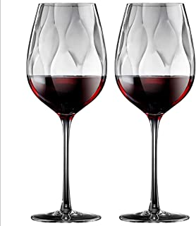 نظارات نبيذ نبيذ ناحية في مهب النبيذ - زجاجي نبيذ أحمر/أبيض مصنوع من الزجاج الكريستال القسط الخالي من الرصاص، مثالي لأي من...