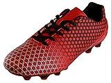 Cambridge Select Men's Lace-up Cleats Soccer Shoe,7.5 D(M) US,Red/Black
