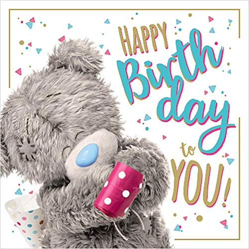 Happy Birthday to You Me to You 3D Holographic Hologram Birthday Card