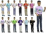 ZITA ELEMENT 5 Set Mode Uniform Puppen Kleidung Outfit für Männer Junge 11,5 inch Girl Doll Boy...