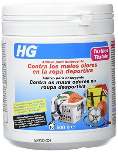 HG 133050130 - Aditivo para Detergente Contra los Malos Olores en Ropa Deportiva, 500 Gramos