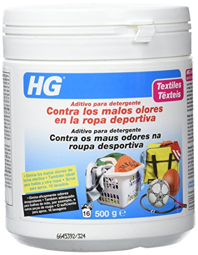 HG 133050130 - aditivo para detergente contra los malos olores en ropa deportiva (envase de 500 g)