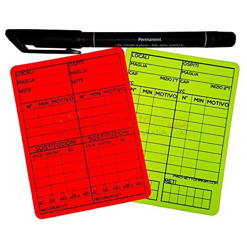 Cartellini riscrivibili 10x7.5 cm Calcio a 11 - NON PERSONALIZZABILI
