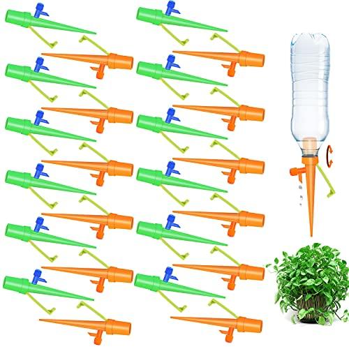 Fostoy Riego por Goteo Automático Kit, Ajustable Piezas Riego por Ggoteo Spike Sistema de Irrigación para Jardín Bonsáis y Flores, Ideal Dispositivo de Irrigación Automático en Vacaciones (24pcs)