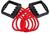 Famous Quality® 5 Tube Adjustable Chest Expander | Unbreakable Latex Tube, 150 KG Resistance Power (Multi)
