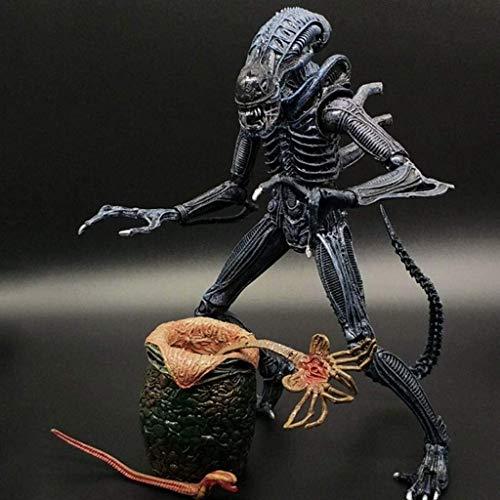 HOOPOO Figura del Extranjero: 7 Pulgadas Escala Mantis Alien (Azul} y Huevos heteromorphic Figura de acción de coleccionista for los Aficionados Extranjeros de Aliens vs Predator