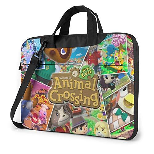 RTRTRT Animal Crossing New Horizons Waterproof Laptop Shoulder Messenger Bag,Multi-Functional Notebook Sleeve Carrying Case 14 inch