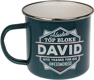 Enamel Personalised Name Mug (David)