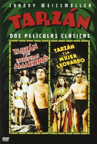 Tarzan Y Las Amazonas + Tarzan Y La Mujer Leopardo [DVD]