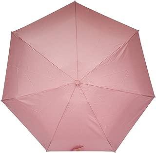 Sun Protection UV Umbrellas Rain and Rain Umbrellas Ultralight Portable Folding Umbrellas Men, Ladies Solid Color Umbrellas HYBKY (Color : Pink)