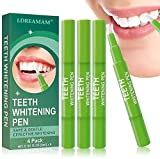 Gel Blanqueador de Diente,Blanqueamiento Dientes,Cuidado de blanqueamiento dental,Lápiz blanqueador de dientes indoloro, garantía de blanqueamiento y brillo de dientes (4 uds).