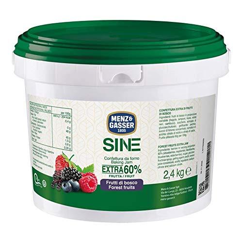Menz&Gasser Confettura Extra di Frutti di Bosco 60% Secchiello Sine, con Alta Percentuale di Frutta - Confettura da Forno e Pasticceria, Senza Glutine