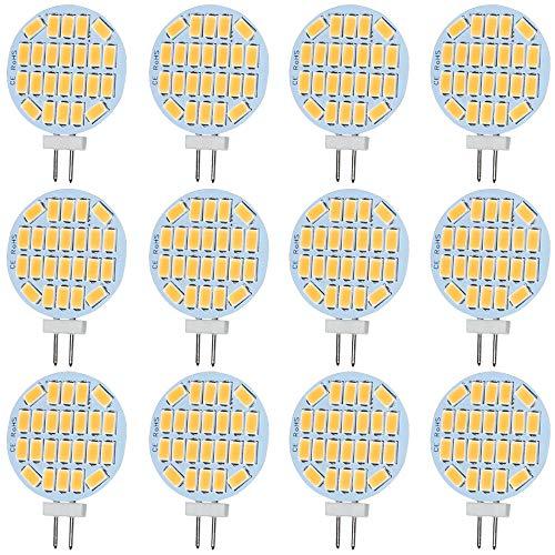Jenyolon G4 LED Warmweiss Lampen 3W AC/DC 12V, 3000K, 400Lm, Ersatz für 30W Halogenlampen Glühlampen, LED G4 klein Stiftsockellampe Leuchtmittel Birne Licht, 120°Abstrahlwinkel, 12er Pack