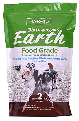 Harris Food Grade Diatomaceous Earth for Pets, for Cats, Dogs, Horses and Pets, 2lb