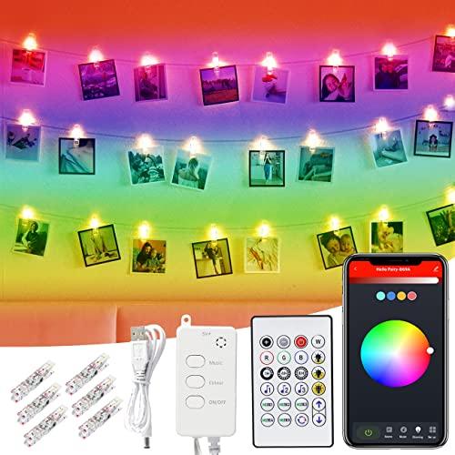 Lucine LED Decorative, Litogo 10m 66LED Luci Foto Controllo App Wifi Musica Luci Albero di Natale Smart Dimmerabile Funzione Timer Impermeabile USB Catena Luminosa per Camere, Natale, Feste, Halloween