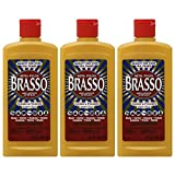 Brasso Metal Polish, 8 oz Bottle for Brass, Copper, Stainless Steel, Chrome, Aluminum, Pewter & Bronze, 8 oz (Pack of 3)