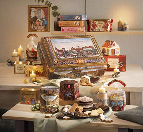 2020 Lebkuchen Schmidt Festive Extra Large Chest: Filled with German Cookies, Biscuits, Stollen, Gingerbread, 6.2lbs