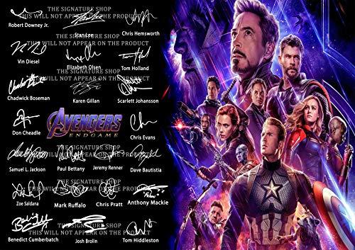 The Signature Shop Avengers End Game Autogrammdruck, PP x 22 Gegossene Mitspieler (nur Poster, 30,5 x 20,3 cm)
