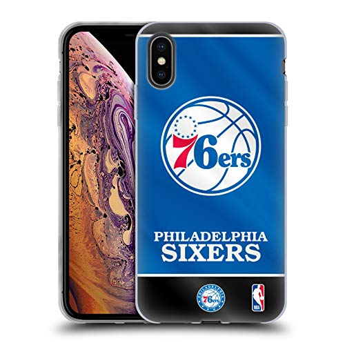 Head Case Designs Offizielle NBA Banner 2019/20 Philadelphia 76ers Soft Gel Huelle kompatibel mit iPhone XS Max