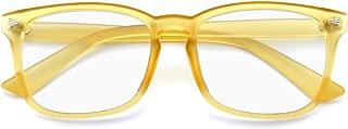 Slocyclub Blue Light Blocking Glasses Vintage Nerd Square Keyhole Design Eyeglasses Frame for Women Men