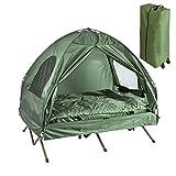 SoBuy OGS32-L-GR Feldbett 4in1-Zelt mit Campingliege Schlafsack Luftmatratze und Zubehör...