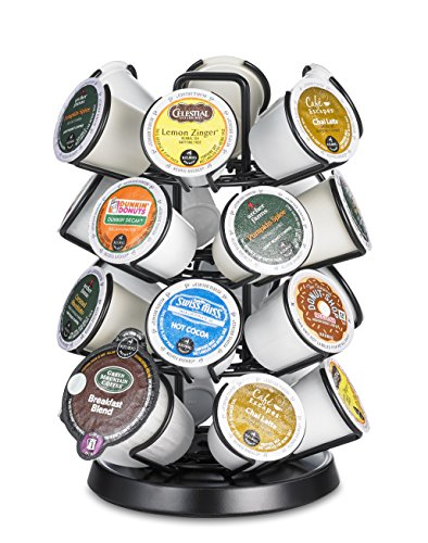 Java Concepts. Steel Carousel Holder Organizer for 24 Keurig K-Cup Pods. Black