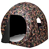 Tangkula Ground Blind, Pop Up Hunting Blind, Suitable for 2-3 People, Camo Pattern, Waterproof with...