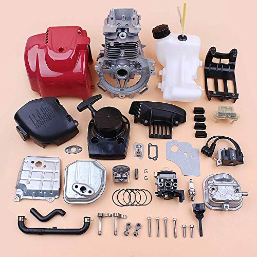 HaoYueDa Kit de Motor de Bobina de Encendido de carburador de Tapa de Cilindro de cárter para desbrozadora de Motor pequeño de 4 Tiempos Honda GX35 GX35NT HHT35S