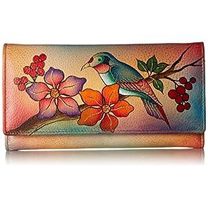 Anuschka Handpainted Leather 1701-ANR Checkbook Wallet/Clutch 2