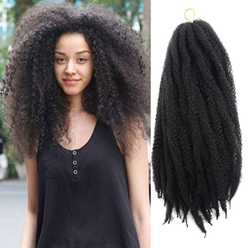 Treccine extension per capelli, all'uncinetto, stile afro Marley, fibra sintetica kanekalon, 60 ciocche per confezione, tonalità sfumate, 45,7 cm, 1 b