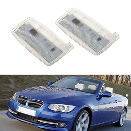 HUOGUOYIN Visor de 2 piezas LED para faros de espejo para BMW E93 E93 LCI E88 Rolls-Royce RR2 Drophead RR3 (color: blanco)