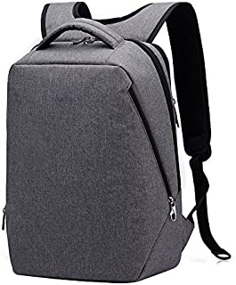 Kopack Laptop Briefcase Large Capacity Laptop Bag Water Resistant Scratch-Resistant Nylon Multi-Functional Shoulder Messenger Bag (Grey M)