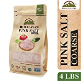 Himalayan Chef Pure Himilian pink Salt, 4 lbs Coarse Grains Pouch