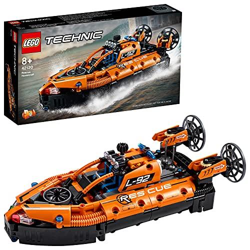 LEGO42120TechnicLuftkissenbootfürRettungseinsätze,2-in-1Modell,BausetfürJungenundMädchen,Spielzeugab8Jahren