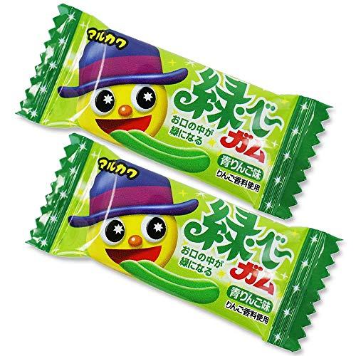 マルカワ 緑ベーガム (50個プラス当たり3個) 駄菓子 お菓子 ガム 舌の色が変わる