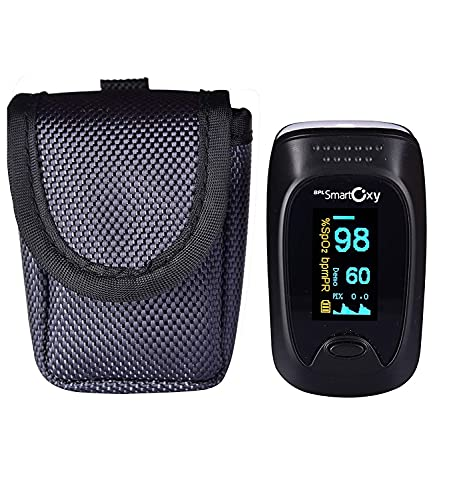 BPL Medical Technologies BPL Smart Oxy Finger Tip Pulse Oximeter (Black)|High Accuracy|SPO2|Perfusion Index| OLED Display| CE Certified| Heart Rate|